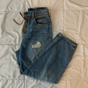 Levis Made and Crafted Barrel Crop Jeans